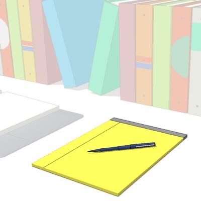 Paper Office Materials 3d Model Formfonts 3d Models