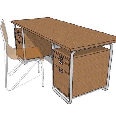 study table 3d model formfonts 3d models textures. Black Bedroom Furniture Sets. Home Design Ideas
