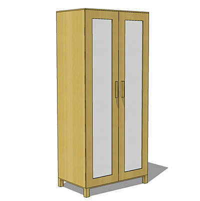 Aneboda wardrobe from IKEA, beech finish.