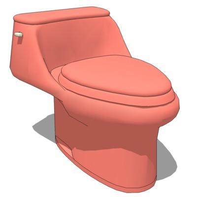 Toilet residential 3d model formfonts 3d models textures - Toilet model ...