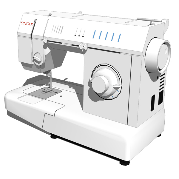 Singer sewing machine 40D Model FormFonts 40D Models Textures Adorable Singer Sew Machine