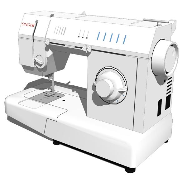 Singer Sewing Machine 3d Model Formfonts 3d Models