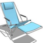 Generic pool or deck chair with removable leg rest