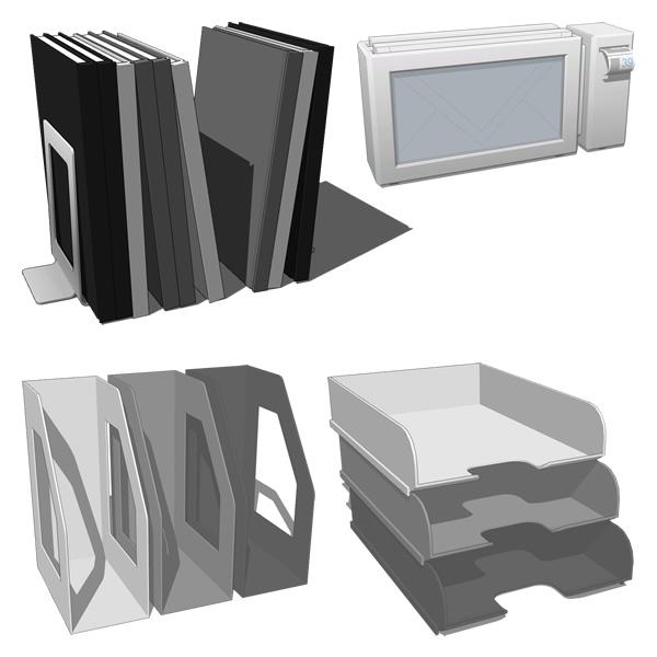 officeset paper 01 3d model formfonts 3d models textures