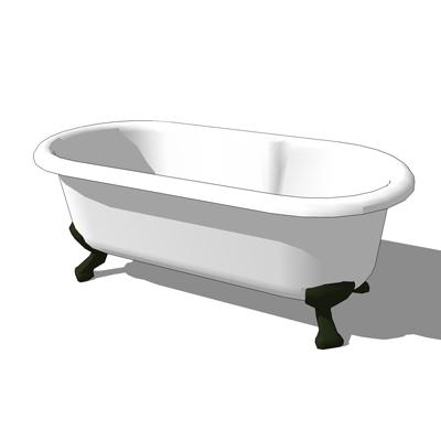 roll top bath 3D Model - FormFonts 3D Models & Textures