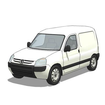 79aa691106 Peugeot Partner 3D Model. Peugeot Partner light delivery van.