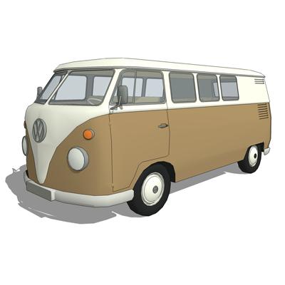 VW combi van 3D Model - FormFonts 3D Models & Textures