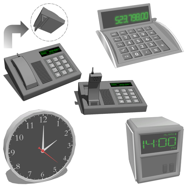 Office Desktop equipment set. Includes a Phone wit....