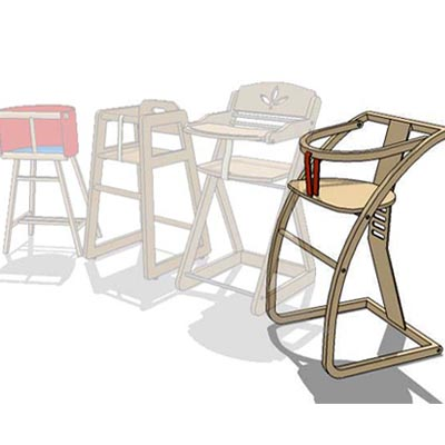 High stools for young kids.