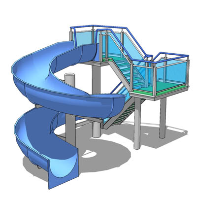 Children's water slide. The slide itself is modula....