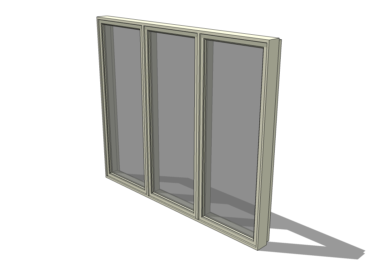 C3 i 3ple casement windows 3d model formfonts 3d models for Anderson casement windows