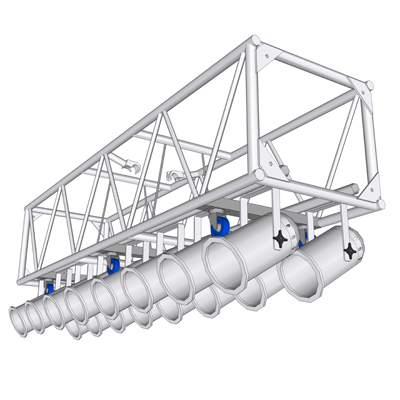 120 PreRigged Aluminum Truss 3D Model