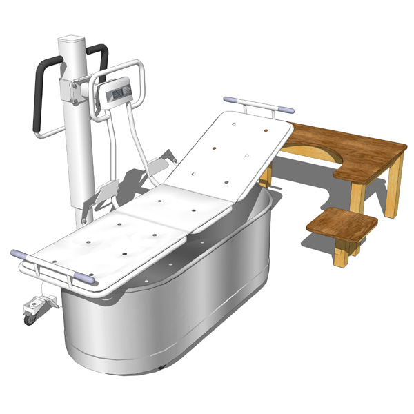 Hydrotherapy equipment. Model includes stainless s....