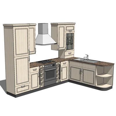 Kwik Kitchen 01 3d Model Formfonts 3d Models Amp Textures