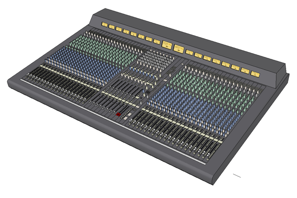 yamaha pm4000 foh audio consoles 3d model formfonts 3d
