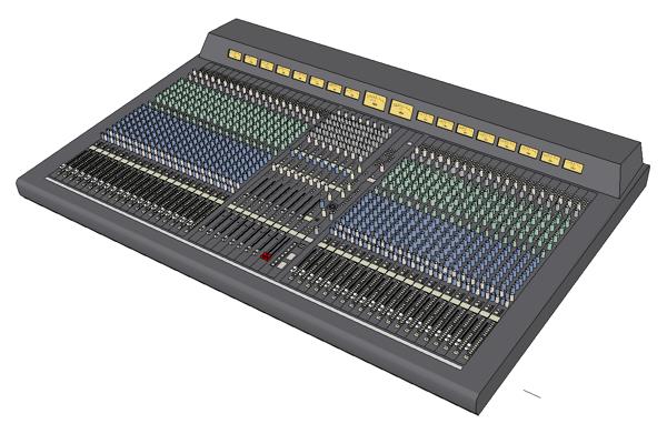 yamaha pm4000 foh audio consoles 3d model formfonts 3d