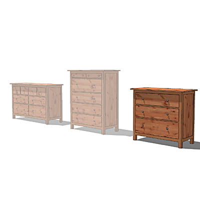 IKEA Hemnes range of chests of drawers, with pine ....
