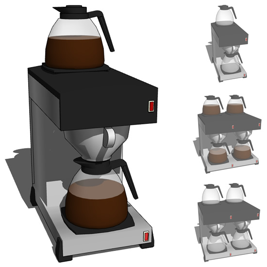 Coffee machine C01 3D Model - FormFonts 3D Models & Textures