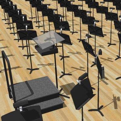 Conductor Podium Amp Music Stands 3d Model Formfonts 3d