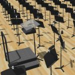 Conductor Podium.  Conductor Music Stand.  Music S...