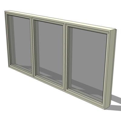 Cw3 ii 3ple casement windows 3d model formfonts 3d for Anderson casement windows