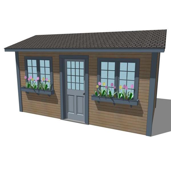 8' x 14' Yard Shed. Poly count can be reduced furt....
