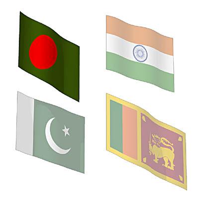 Flags South Asian 3d Model Formfonts 3d Models Amp Textures