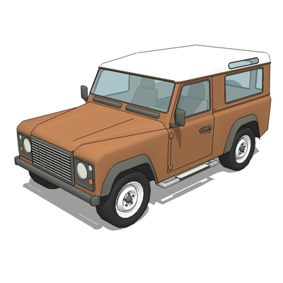 Land rover defender 3d model formfonts 3d models textures - Land keuken model ...