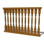 TRN101 Baluster. Shown in 4' section. 6' offered i...