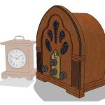 Replica antique radio and clock