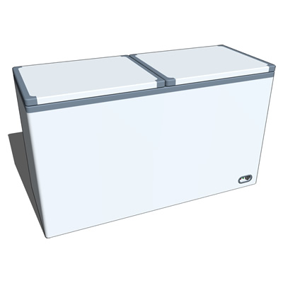 Generic twin-lid fridge for supermarkets/groceryst....