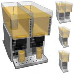 Lemonade dispenser in different configurations wit...