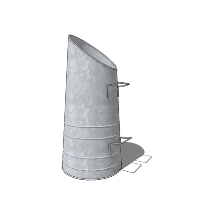 Galvanised coal scuttle