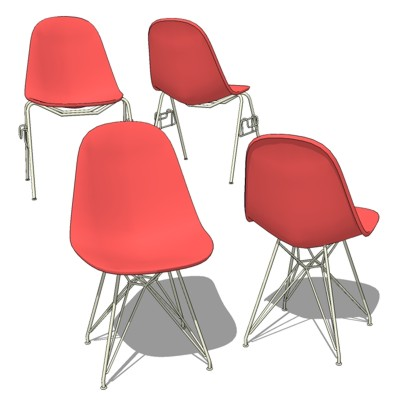 Eames Molded Plastic Chair. Config-1 offers the or....
