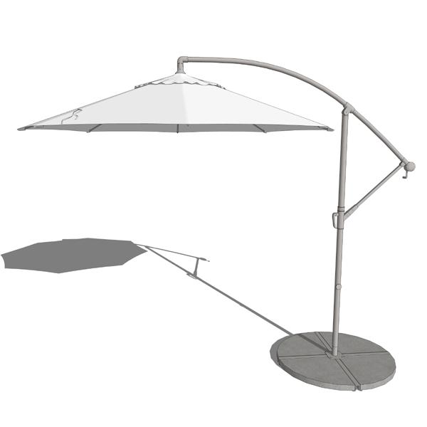 Waikiki Cantilever Umbrella 3d Model Formfonts 3d Models
