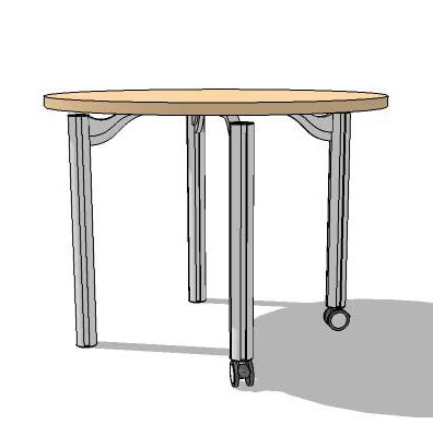 Small meeting table.