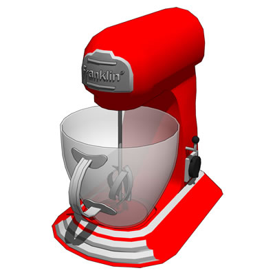 Food mixer in retro style. Comes in four configura....