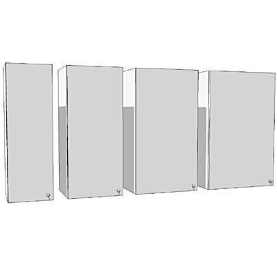 Ikea Faktum Cabinets High 1 Door 3d Model Formfonts 3d Models Textures