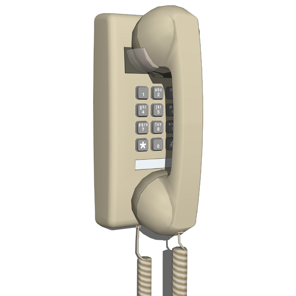 Traditional Wall Phone Model