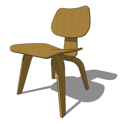 Eames Plywood Chairs 3D Model