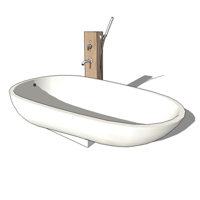 Spoon bath and pillar with Fez faucet by Agape, de....