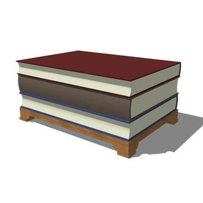 Book Table 3D Model