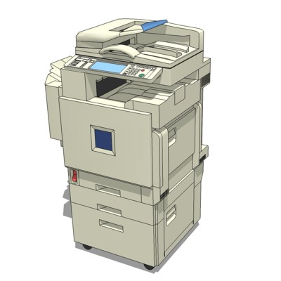 Copier Ricoh 3d Model Formfonts 3d Models Amp Textures