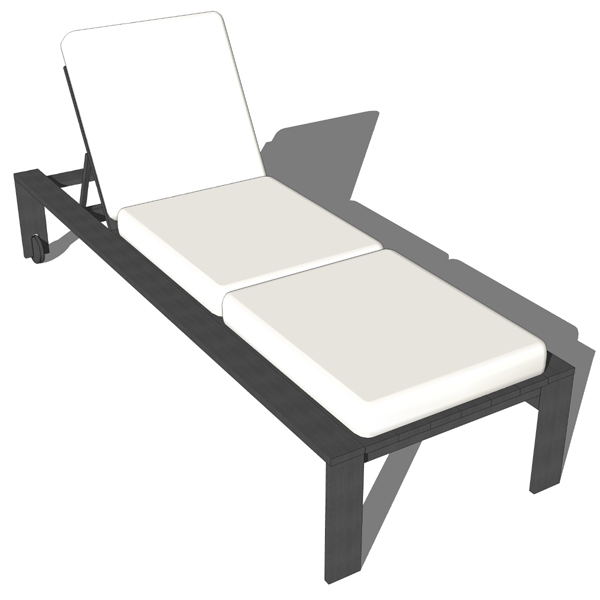 Outdoor Lounge Chair 3D Model