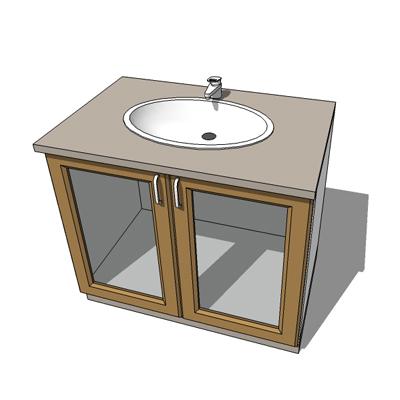 Basin cabinet 3d model formfonts 3d models textures for Sketchup bathroom sink