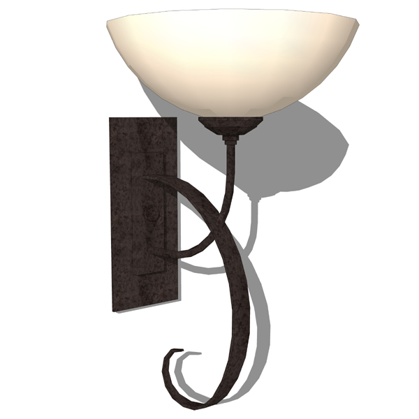 Superior Hubbardton Forge Wrought Iron Wall Sconce.