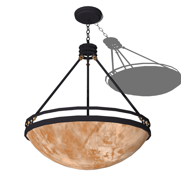 Heavy gauge steel pendant lighting from the Compas....