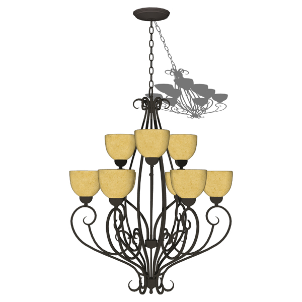 Hinkley 9-light chandelier 3D Model - FormFonts 3D Models