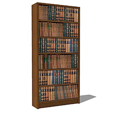 Library Bookcases 3d Model Formfonts 3d Models Textures