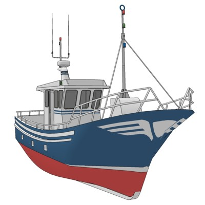 Spanish Fishing Trawler. Designed and Built by Ast....